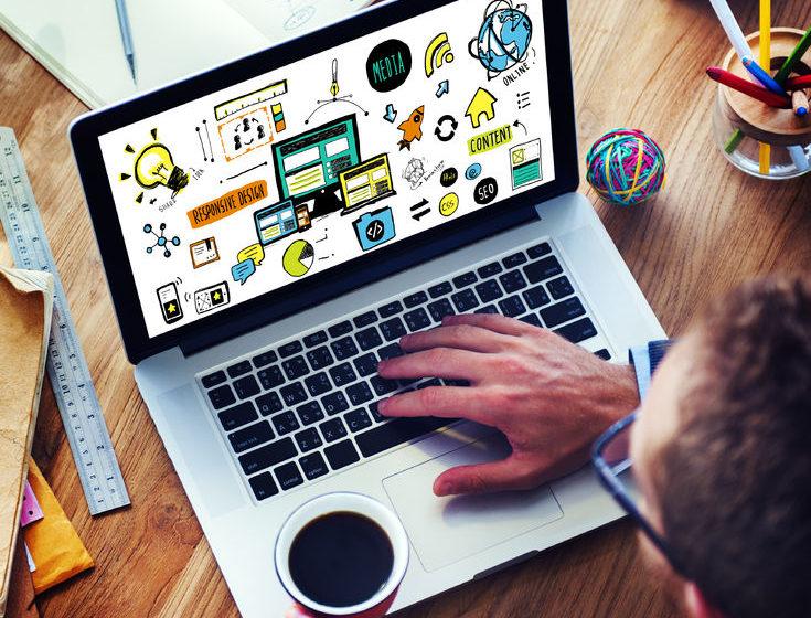 38522974 - businessman responsive design content digital devices concept